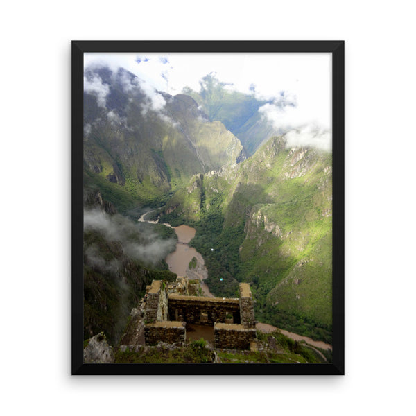 Huayna Picchu Perch, Framed Art, - Explore Dream Discover