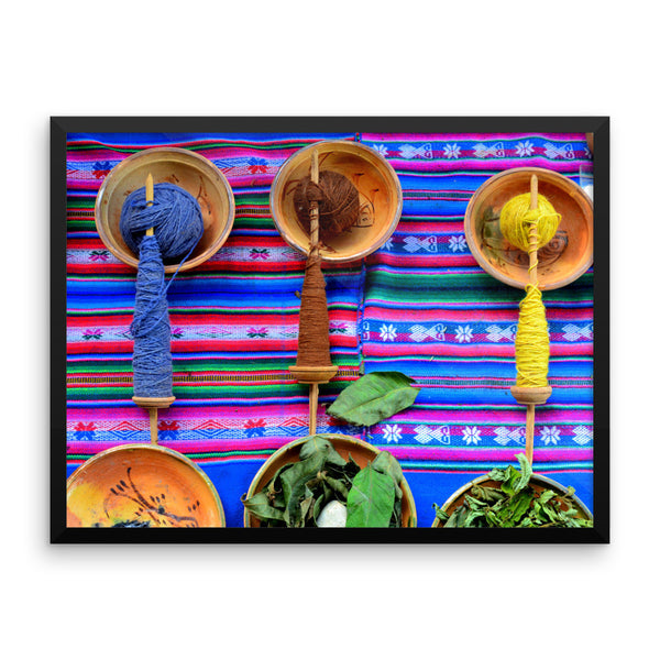 Cuzco Yarn, Framed Art, - Explore Dream Discover
