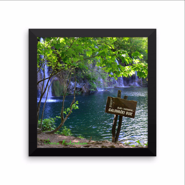 Plitvice Falls, Framed Art, - Explore Dream Discover