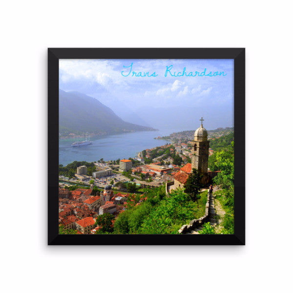 Kotor Hilltop, Framed Art, - Explore Dream Discover