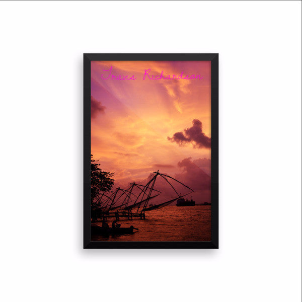 Kerala Twilight, Framed Art, - Explore Dream Discover