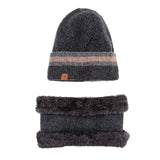 Beanie and Neck Warmer Set (Gray) - Melifluos