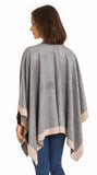 Cardigan Poncho (Light Gray Beige) - Melifluos