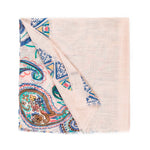 Spanish Design Printed Viscose Scarf (Beige Pattern) - Melifluos