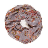 Spanish Design Printed Viscose Scarf (Gray Floral) - Melifluos