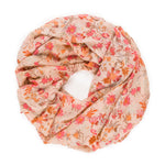 Spanish Design Printed Viscose Scarf (Beige Orange Floral) - Melifluos