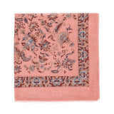 Spanish Design Printed Viscose Scarf (Pink Spanish Floral) - Melifluos