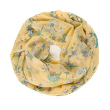 Spanish Design Printed Viscose Scarf (Yellow Floral)