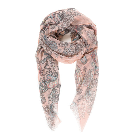 Copy of Spanish Design Printed Viscose Scarf (Beige Paisley) - Melifluos