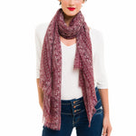 Spanish Design Printed Viscose Scarf (Purple Elephant) - Melifluos
