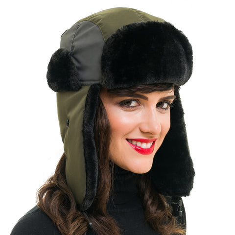 Trapper Hat (Army Green) - Melifluos