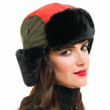 Trapper Hat (Orange Green) - Melifluos