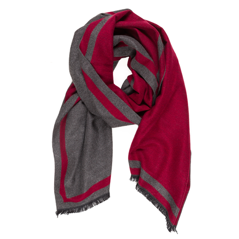 Viscose Men Scarves (Red) - Melifluos