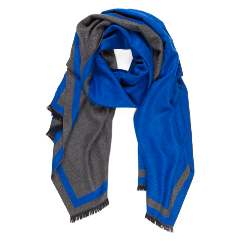 Viscose Men Scarves (Blue) - Melifluos
