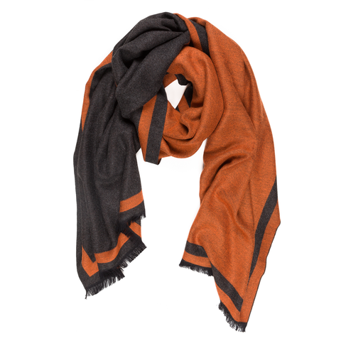 Viscose Men Scarves (Orange) - Melifluos