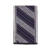 Viscose Men Scarves (Double Gray Strip) - Melifluos