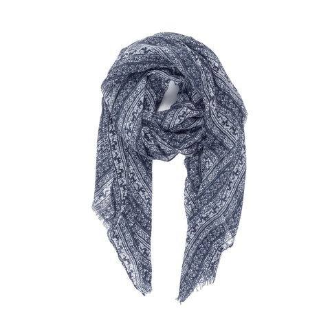 Spanish Design Printed Viscose Scarf (Gray Elephant) - Melifluos