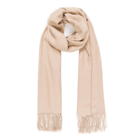 Solid Color Classic Scarf (Beige) - Melifluos
