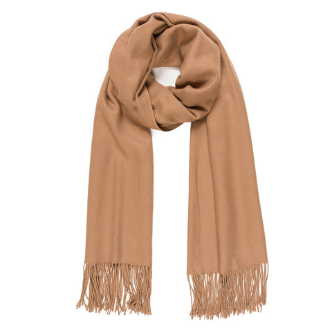 Solid Color Classic Scarf (Caramel) - Melifluos