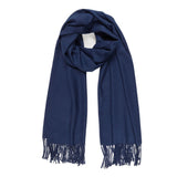 Solid Color Classic Scarf (Navy) - Melifluos