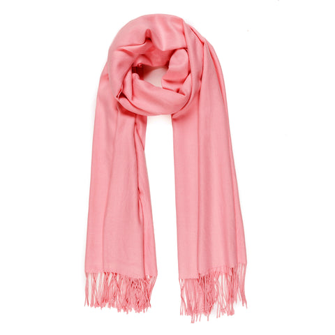 Solid Color Classic Scarf (Pink) - Melifluos