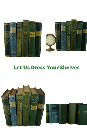 Green  Antique  Decorative  Books, S/6 - Decades of Vintage