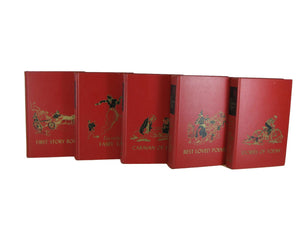 Decorative Books for Children in Red, Set of 5 - Decades of Vintage