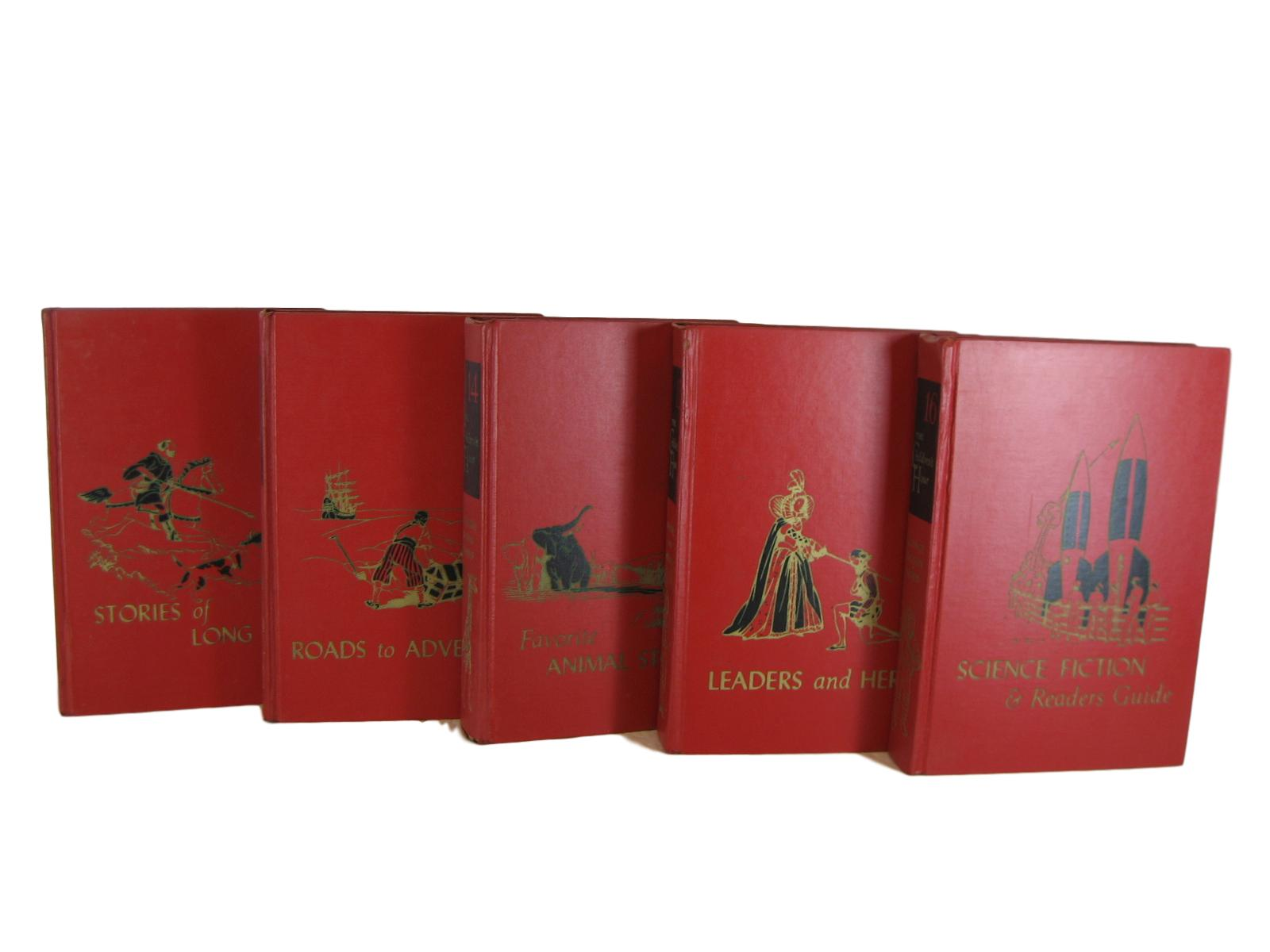 Red Vintage Children's Book Collection, Set of 5 - Decades of Vintage