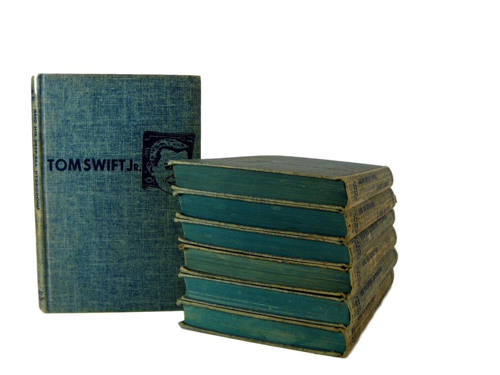 Vintage Tom Swift Adventures, Set of 7, [decorative_books], Decades of Vintage
