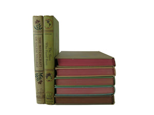 Decorative Books for Vintage Nursery Decor,  Set of 7 - Decades of Vintage
