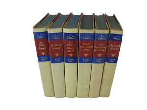 Decorative Books by  Zane Grey, S/6 - Decades of Vintage