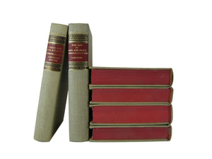 Vintage Books for Home Decor  in Red and Tan, S/6, [decorative_books], Decades of Vintage