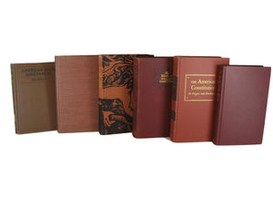 Decorative Books in Brown and Rust Shades for  Vintage Book Decor, S/6 - Decades of Vintage