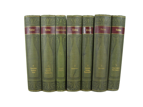 Red Modern Library Classic Collection, S/4-vintage decorative books-Decades of Vintage