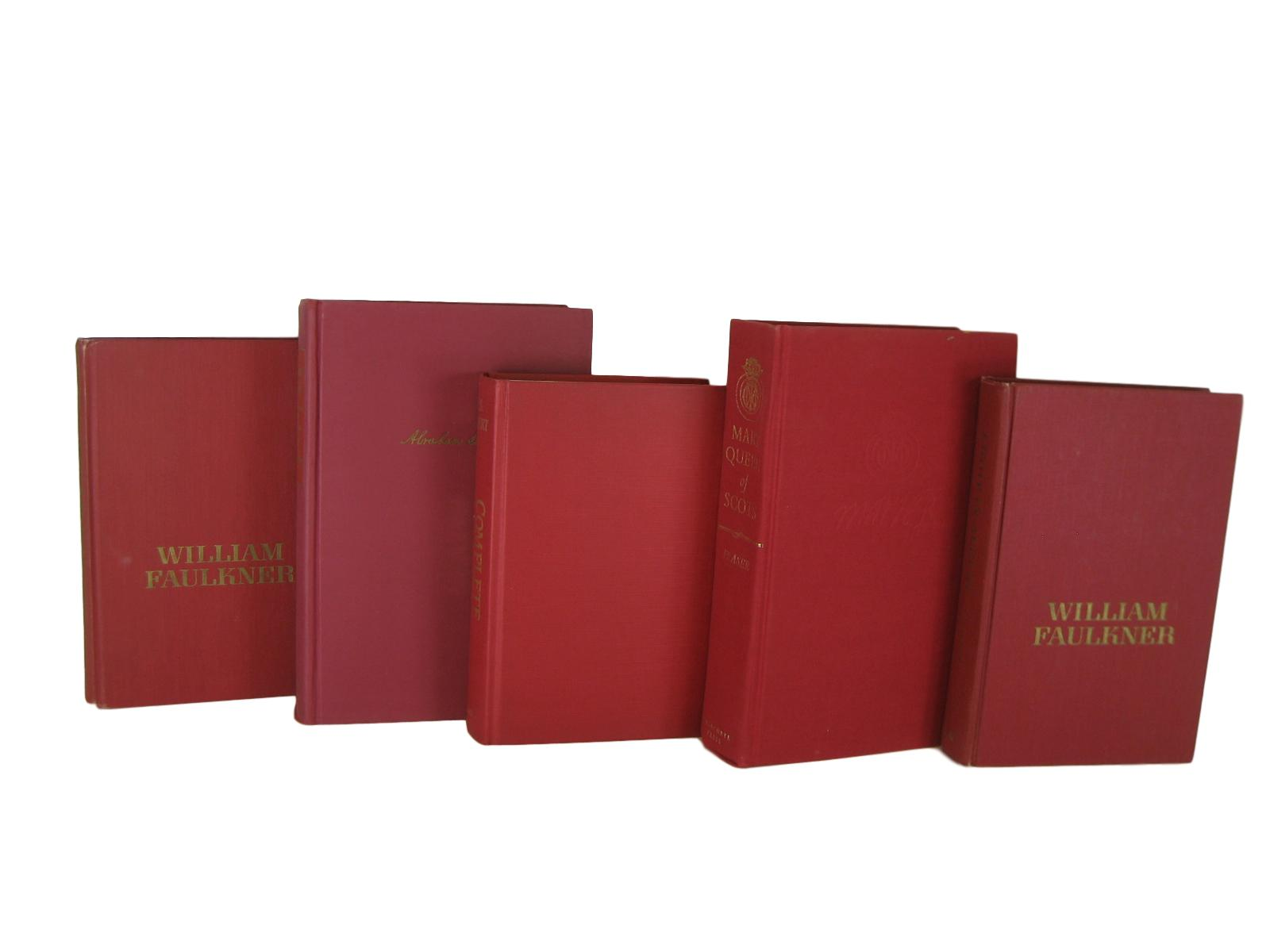 Red Decorative Books, Vintage Books by Color, S/5 - Decades of Vintage