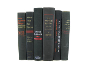 Black Decorative Hardcover Books, S/6 - Decades of Vintage