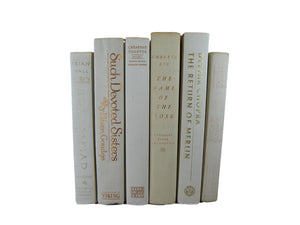 White  Decorative  Books for Display, S/6, [decorative_books], Decades of Vintage