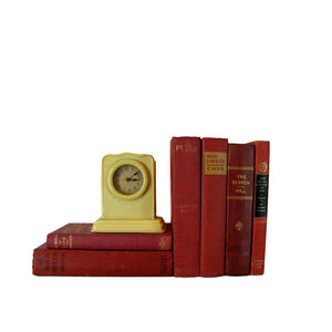 Vintage Red Decorative  Book Stack, S/6 - Decades of Vintage