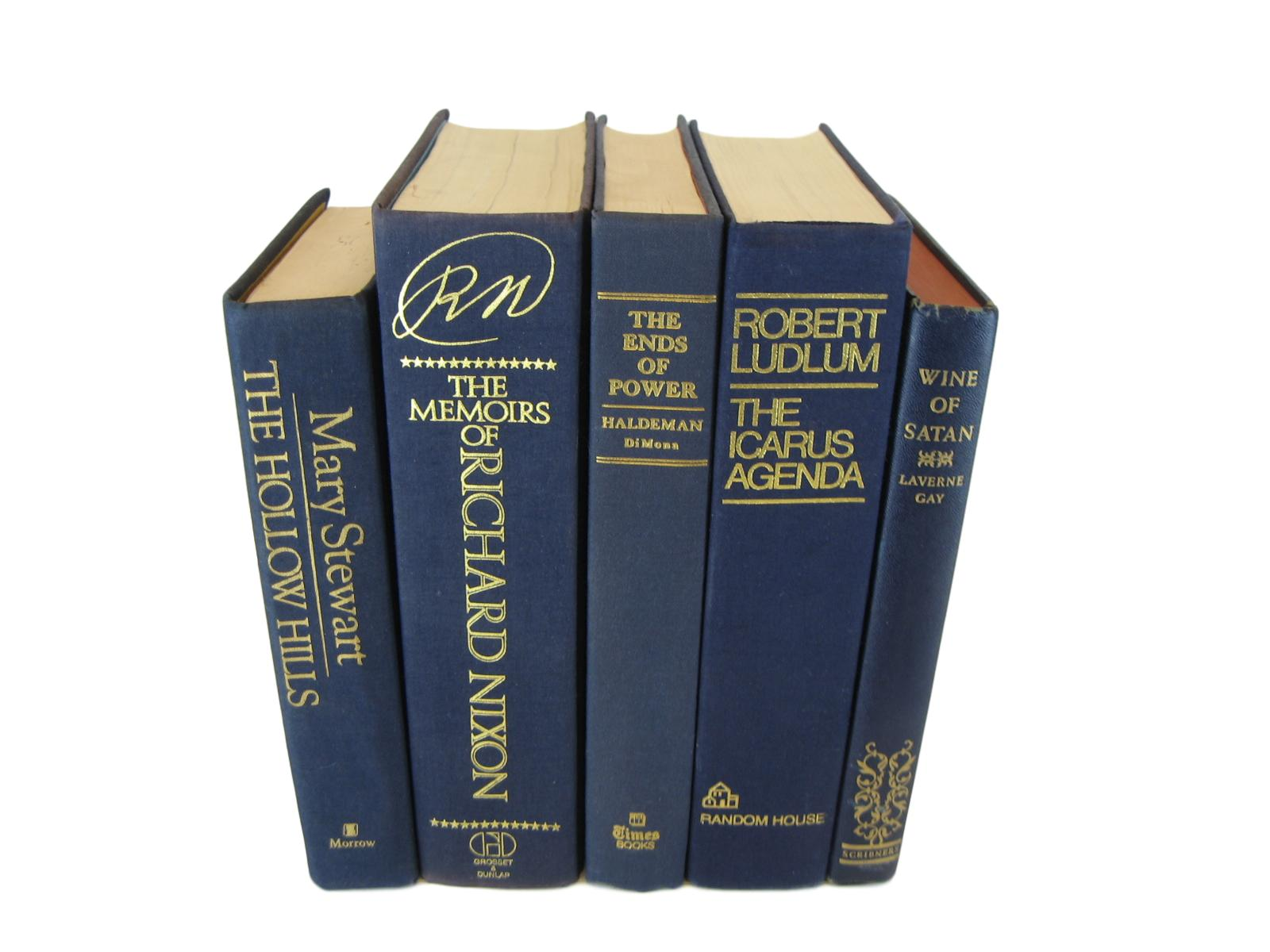 Blue Decorative Book Set, S/5 - Decades of Vintage