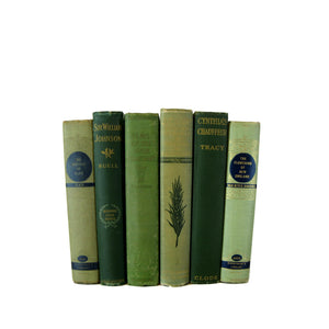 Green Decorative  Books for Display, S/6