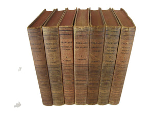 Vintage Decorative Books for Decor with Tinted Page Tops, S/7, [decorative_books], Decades of Vintage