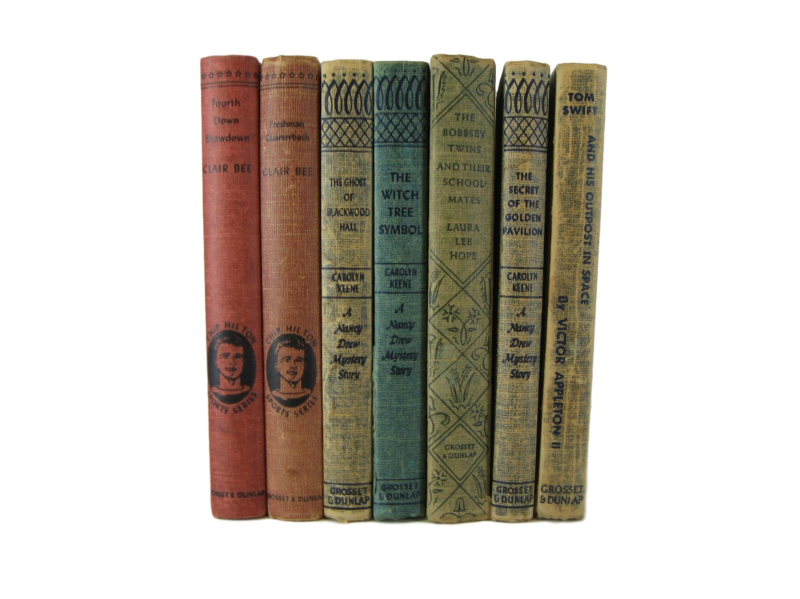 Vintage Decorative Book Set with Tinted Page Tops, S/7, [decorative_books], Decades of Vintage