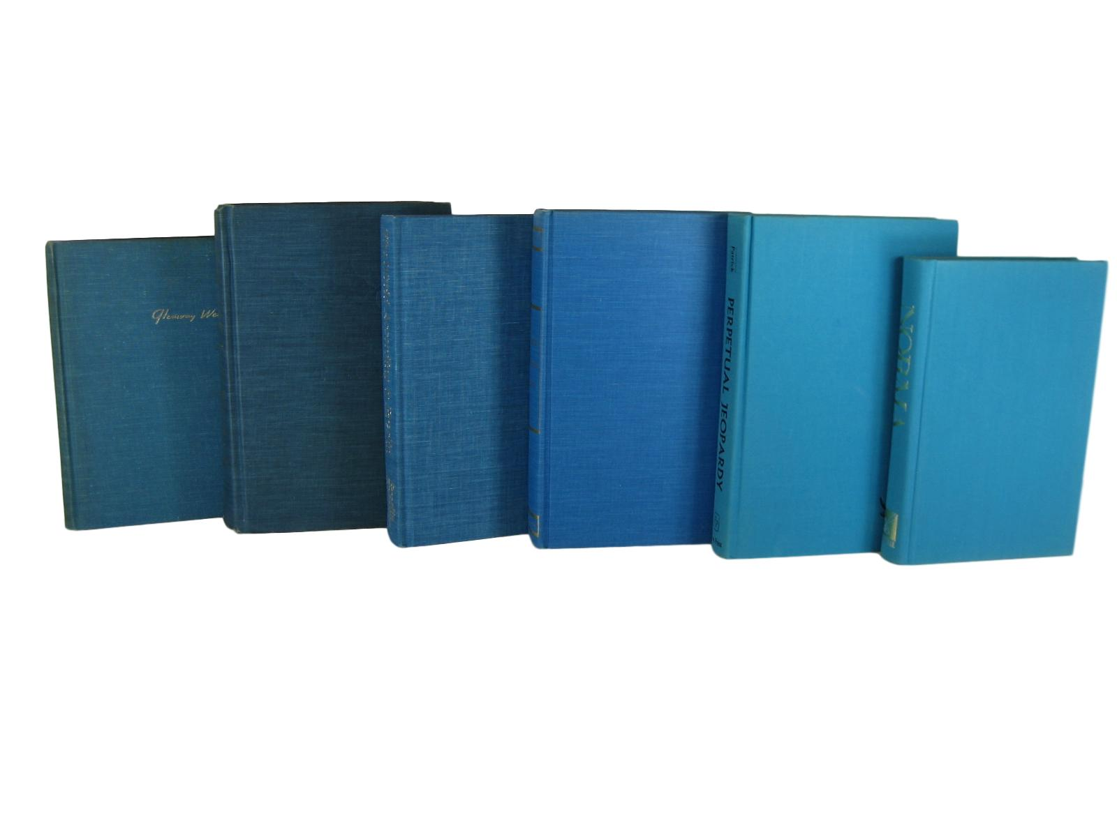 Decorative Books in Blue for  Vintage Book Home Decor, S/6 - Decades of Vintage