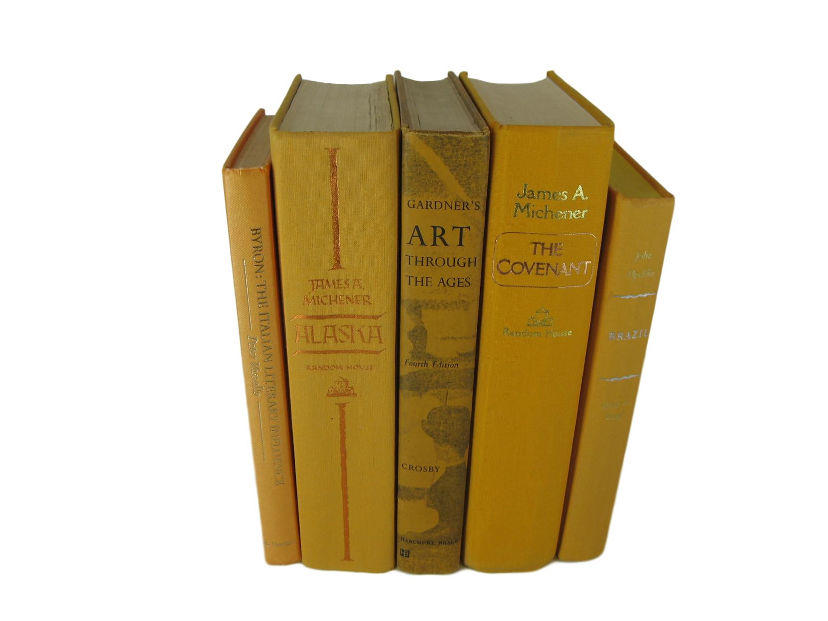Yellow  Decorative Books, S/5, [decorative_books], Decades of Vintage