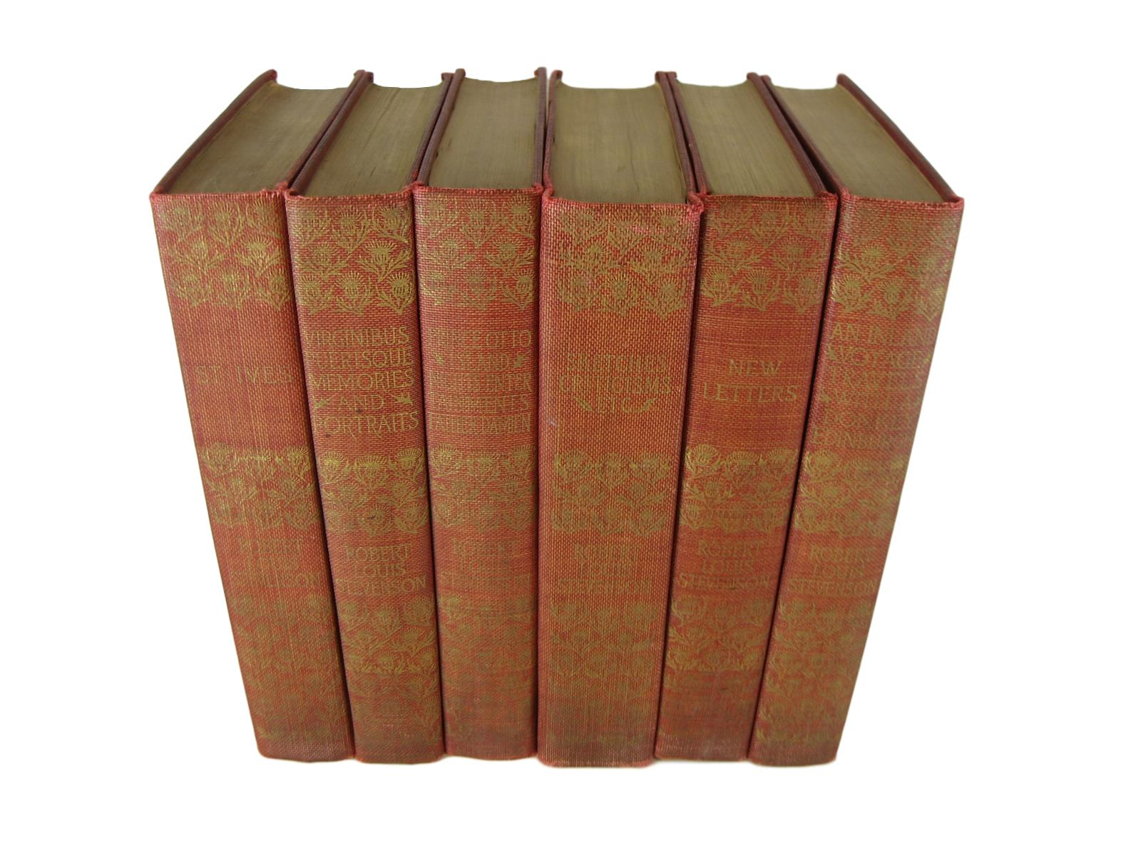 Antique Book Set by Robert Louis Stevenson for Rustic  Farmhouse Decor, S/6 - Decades of Vintage
