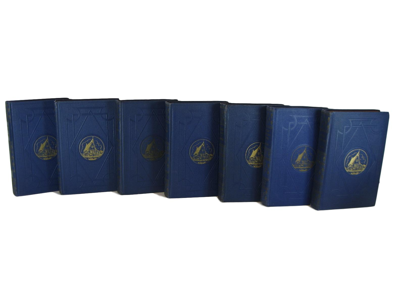 Blue Decorative Books for Display, S/7 - Decades of Vintage