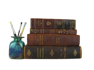 Decorative Leather Books, S/4 - Decades of Vintage