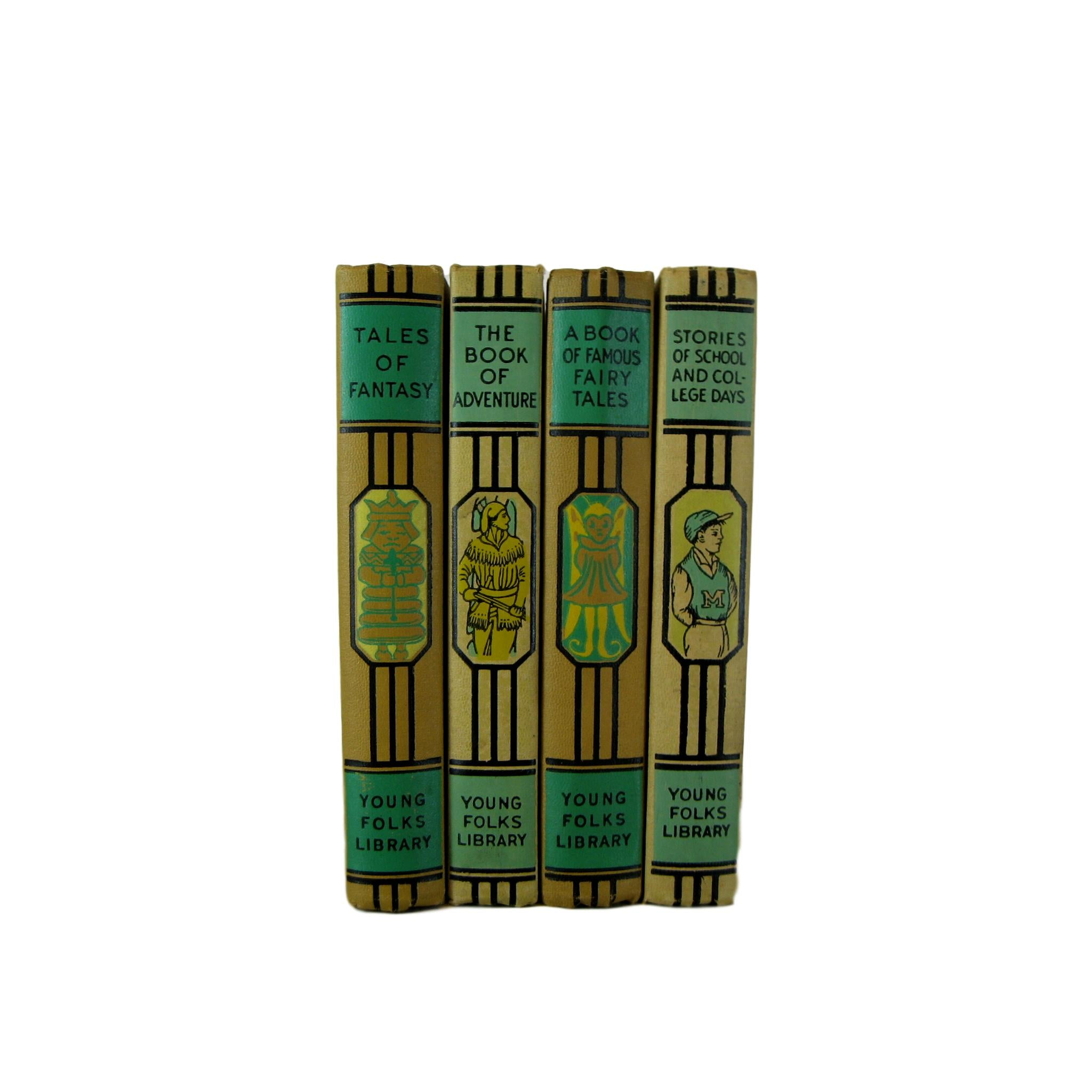 Mid-Century Decorative Children's Books for Nursery Design, S/4 - Decades of Vintage