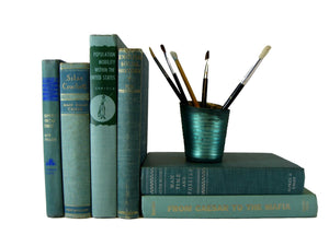 Green Decorative Books for Shelf Display , S/6 - Decades of Vintage