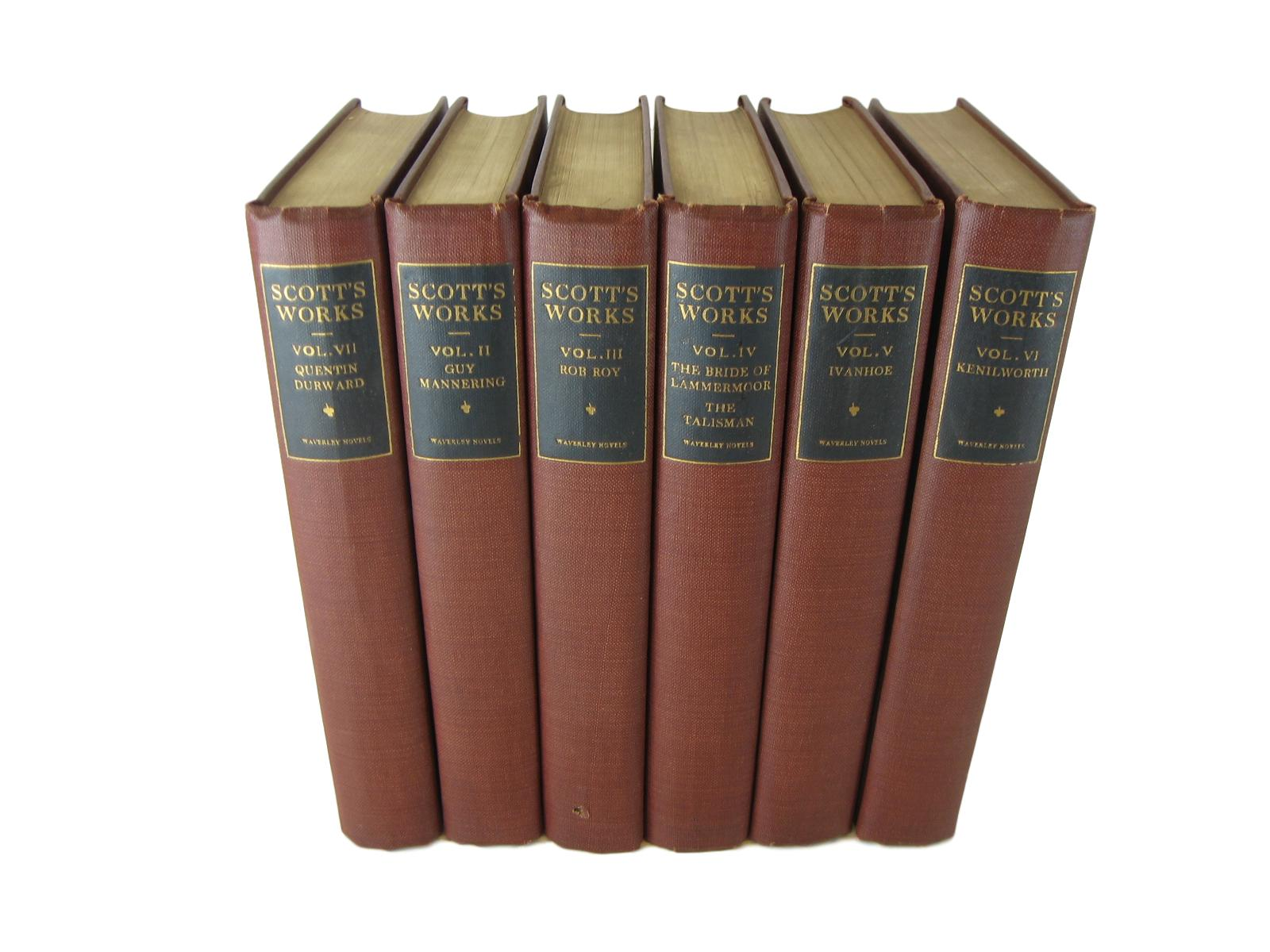 Vintage Book Stack of Waverley Novels, S/6, [decorative_books], Decades of Vintage